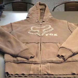 Fox brand zip up hoodie